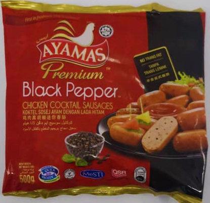 Picture of AMS COCKTAIL BLACK PAPER <br>鸡肉黑胡椒迷你香肠<br> (1pkt / 500g)