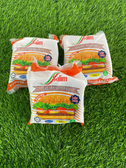 Picture of SALIM  BEEF BURGER SQUARE <br> ( 1PKT / 80g )